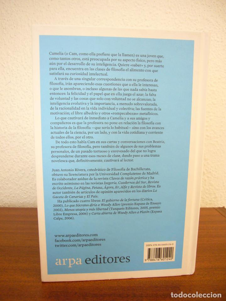 Libros de segunda mano: JUAN ANTONIO RIVERA: CAMELIA Y LA FILOSOFÍA (ARPA, 2016) MUY BUEN ESTADO. TAPA DURA. - Foto 3 - 194136100