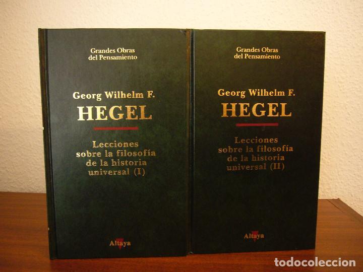 Libros de segunda mano: HEGEL: LECCIONES SOBRE LA FILOSOFÍA DE LA HISTORIA UNIVERSAL I Y II. COMPLETO (ALTAYA/ ALIANZA, 1994 - Foto 2 - 194136447