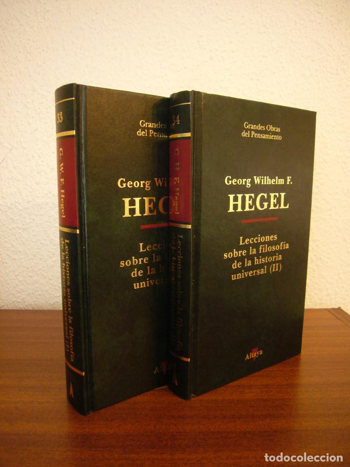 Libros de segunda mano: HEGEL: LECCIONES SOBRE LA FILOSOFÍA DE LA HISTORIA UNIVERSAL I Y II. COMPLETO (ALTAYA/ ALIANZA, 1994 - Foto 3 - 194136447