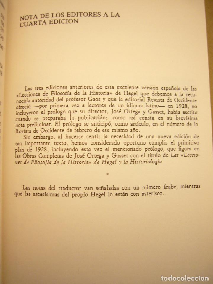 Libros de segunda mano: HEGEL: LECCIONES SOBRE LA FILOSOFÍA DE LA HISTORIA UNIVERSAL I Y II. COMPLETO (ALTAYA/ ALIANZA, 1994 - Foto 10 - 194136447