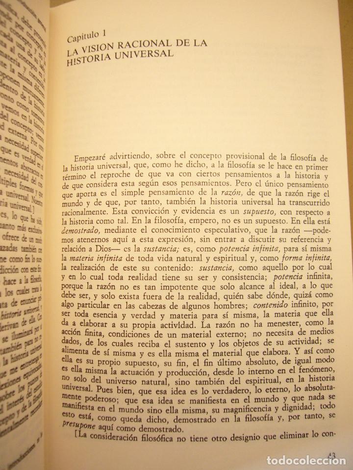 Libros de segunda mano: HEGEL: LECCIONES SOBRE LA FILOSOFÍA DE LA HISTORIA UNIVERSAL I Y II. COMPLETO (ALTAYA/ ALIANZA, 1994 - Foto 11 - 194136447