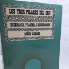 Libros de segunda mano: LOS TRES PILARES DEL ZEN. ENSEÑANZA PRACTICA E ILUMINACION. PHILIP KAPLEAU MÉXICO 1975 1ª EDICION. Lote 194222712