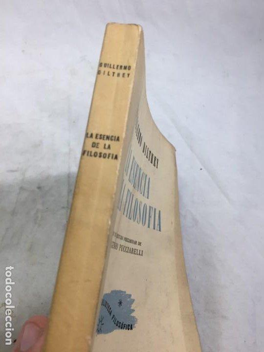 Libros de segunda mano: La esencia de la filosofía Wilhelm Dilthey, Publicado por Losada. 1944 - Foto 3 - 194223071
