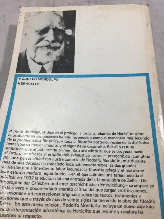 Libros de segunda mano: HERACLITO. TEXTOS Y PROBLEMAS DE SU INTERPRETACION. RODOLFO MONDOLFO 1978 SIGLO XXI - Foto 12 - 194223658