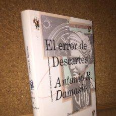 Libros de segunda mano: EL ERROR DE DESCARTES - ANTONIO R. DAMASIO - CRITICA - TAPA DURA Y SOBRECUBIERTA. Lote 194263742