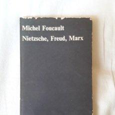 Libros de segunda mano: MICHEL FOUCAULT - NIETZSCHE, FREUD, MARX (CUADERNOS ANAGRAMA, Nº7) AÑO 1970. Lote 194291952