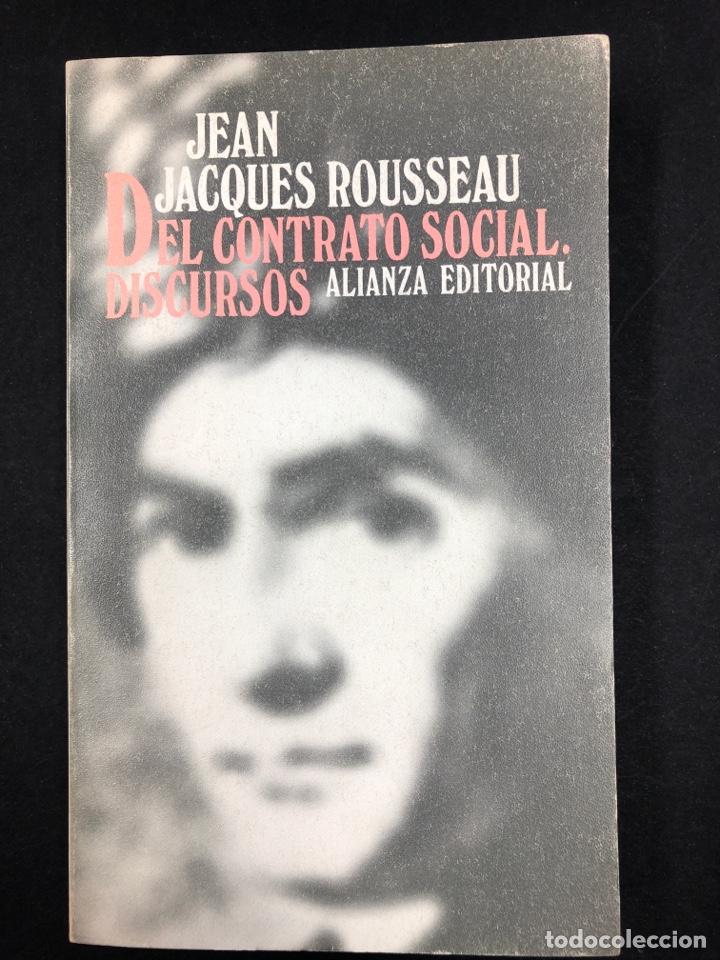 DEL CONTRATO SOCIAL Y DISCURSOS... J. ROUSSEAU - Nº 763 ALIANZA EDITORIAL 2ª EDICION 1982 (Libros de Segunda Mano - Pensamiento - Filosofía)