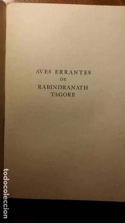 Libros de segunda mano: Aves errantes, Rabindranath Tagore - Foto 3 - 194342576