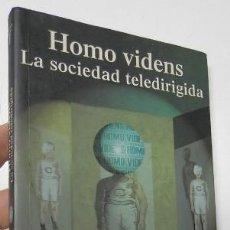 Libros de segunda mano: HOMO VIDENS. LA SOCIEDAD TELEDIRIGIDA - GIOVANNI SARTORI. Lote 194378301