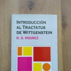Livros em segunda mão: INTRODUCCIÓN AL TRACTATUS DE WITTGENSTEIN. H.O. MOUNCE. Lote 194560848