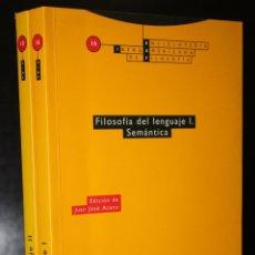 Libros de segunda mano: FILOSOFÍA DEL LENGUAJE. VOLÚMENES I Y II. VOLUMEN I: SEMÁNTICA. VOLUMEN II: PRAGMÁTICA.. Lote 194569016