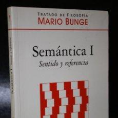 Libros de segunda mano: SEMÁNTICA I. SENTIDO Y REFERENCIA.. Lote 194573277