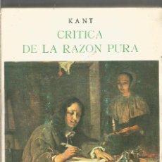 Libros de segunda mano: INMANUEL KANT. CRITICA DE LA RAZON PURA. TOMO II. BERGUA. Lote 194579220