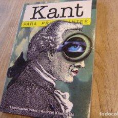 Libros de segunda mano: KANT PARA PRINCIPIANTES. ERA NACIENTE SRL. 2007. Lote 194591195