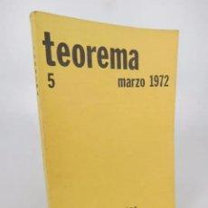 Libros de segunda mano: TEOREMA. REVISTA DEL DEPARTAMENTO DE LÓGICA Y FILOSOFÍA DE LA CIENCIA 5. UV, 1972. Lote 194605526