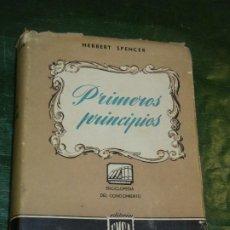 Libri di seconda mano: PRIMEROS PRINCIPIOS, DE HERBERT SPENCER - ED. E.M.C.A. 1945. Lote 194665647