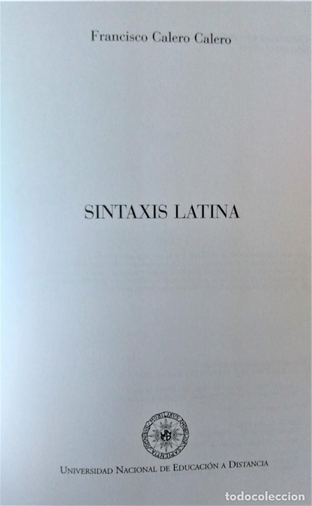 Libros de segunda mano: UNED - SINTAXIS LATINA - Francisco Calero - Foto 2 - 194869842