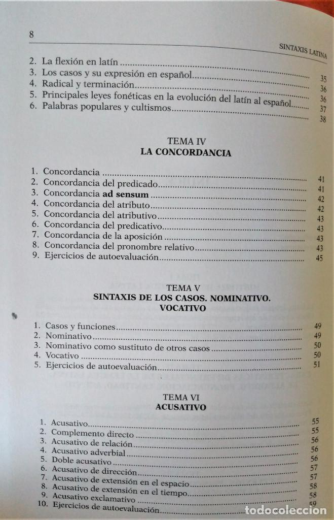 Libros de segunda mano: UNED - SINTAXIS LATINA - Francisco Calero - Foto 4 - 194869842
