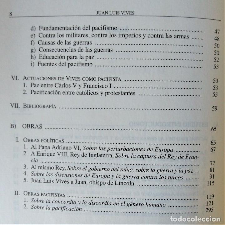 Libros de segunda mano: JUAN LUIS VIVES - OBRAS POLITICAS Y PACIFISTAS (BIBLIOTECA DE AUTORES ESPAÑOLES) - Foto 4 - 194871037