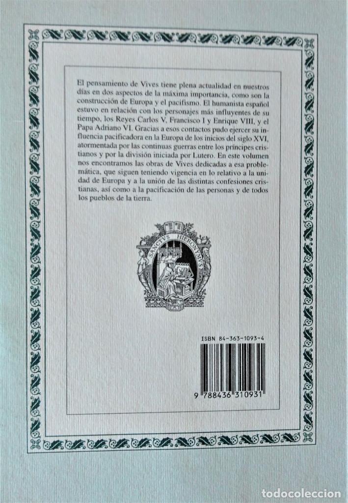 Libros de segunda mano: JUAN LUIS VIVES - OBRAS POLITICAS Y PACIFISTAS (BIBLIOTECA DE AUTORES ESPAÑOLES) - Foto 5 - 194871037