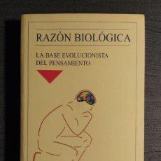 Libros de segunda mano: RAZON BIOLOGICA.LA BASE EVOLUCIONISTA DEL PENSAMIENTO. CARLOS CASTRODEZA. MINERVA.. Lote 194895115