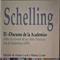 Libros de segunda mano: SCHELLING -EL DISCURSO DE LA ACADEMIA (SOBRE LA RELACCIÓN DE LAS ARTES PLÁSTICAS CON LA NATURALEZA . Lote 194997105