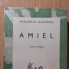 Libros de segunda mano: GREGORIO MARAÑÓN. AMIEL. ESPASA CALPE. AUSTRAL.. Lote 195020345