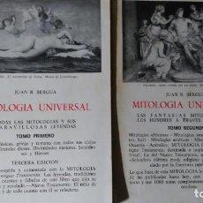 Libros de segunda mano: MITOLOGÍA UNIVERSAL. 2 TOMOS JUAN BERGUA.. Lote 195020872