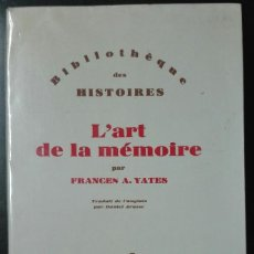Libros de segunda mano: FRANCES YATES. L'ART DE LA MÉMOIRE. 1987. Lote 195137792