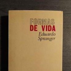 Libros de segunda mano: FORMAS DE VIDA EDUARDO SPRANGER REVISTA DE OCCIDENTE . Lote 195150198