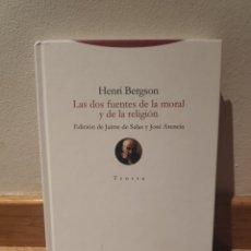 Libros de segunda mano: HENRY BERGSON LAS DOS FUENTES DE LA MORAL Y DE LA RELIGION. Lote 195150532