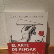 Libros de segunda mano: EL ARTE DE PENSAR JOSÉ CARLOS RUIZ. Lote 195150568