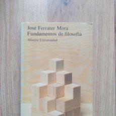 Libros de segunda mano: FUNDAMENTOS DE FILOSOFIA. JOSÉ FERRATER MORA.. Lote 195184157