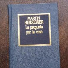 Libros de segunda mano: MARTIN HEIDEGGER: LÓGICA. LA PREGUNTA POR LA COSA. LA DOCTRINA KANTIANA DE LOS PRINCIPIOS TRASCENDEN. Lote 195303455