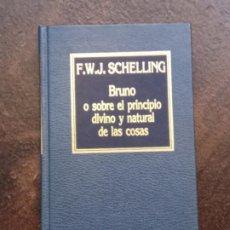 Libros de segunda mano: F.W.J. SCHELLING: BRUNO O SOBRE EL PRINCIPIO DIVINO Y NATURAL DE LAS COSAS. Lote 195303685