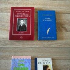 Libros de segunda mano: 4 LIBROS SOBRE FILOSOFÍA, ALQUIMIA, NACIONALISMO (BÖHME, ERASMO, RUBERT DE VENTÓS, FUSTER). Lote 193442600