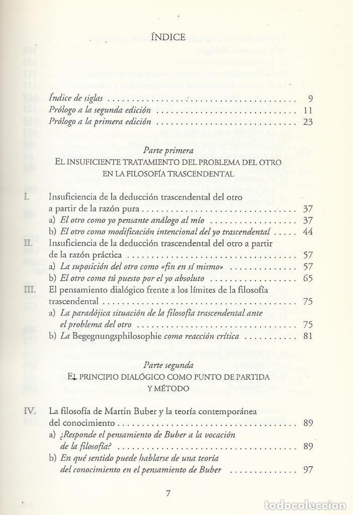 Libros de segunda mano: FILOSOFIA MARTIN BUBER, Diego Sánchez Meca, HERDER ED - Foto 3 - 195362386