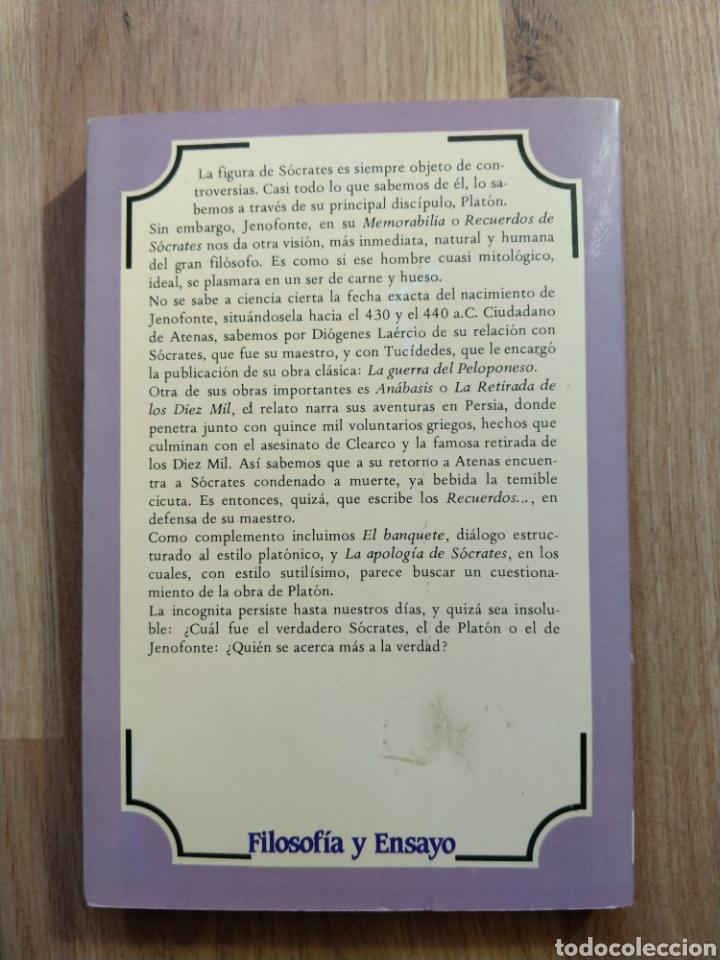 Libros de segunda mano: Recuerdos de Sócrates. Jenofonte. - Foto 3 - 195389256