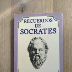 Libros de segunda mano: RECUERDOS DE SÓCRATES. JENOFONTE.. Lote 195389256