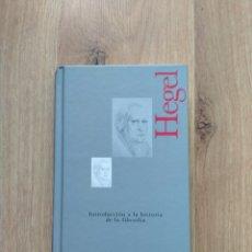Livros em segunda mão: INTRODUCCIÓN A LA HISTORIA DE LA FILOSOFÍA. HEGEL. Lote 195394978