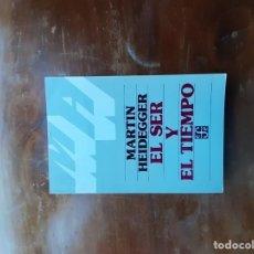 Libros de segunda mano: HEIDEGGER EL SER Y EL TIEMPO . Lote 195471258