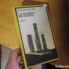 Libros de segunda mano: LA FILOSOFIA NO ESCRITA Y OTROS ENSAYOS - CORNFORD, FRANCIS M... Lote 195474238