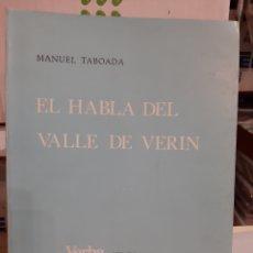 Libros de segunda mano: 1979 EL HABLA DEL VALLE DE VERIN ORENSE MANUEL TABOADA UNIVERSIDAD SANTIAGO VERBA ANUARIO FILOSOFÍ. Lote 195479776
