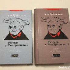 Libros de segunda mano: PARERGA Y PARALIPOMENA I Y II. Lote 195489470