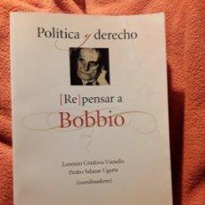 Libros de segunda mano: REPENSAR A BOBBIO. LORENZO CORDOBA/PEDRO SALAZAR (COORD). UNICO EN TC. S. XXI. MEXICO 2005. NORBERTO. Lote 197665255