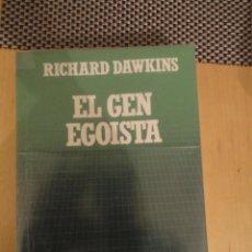 Livros em segunda mão: EL GEN EGOISTA. RICHARD DAWKINS. BIBLIOTECA CIENTIFICA SALVAT. Nº 9. Lote 198169370