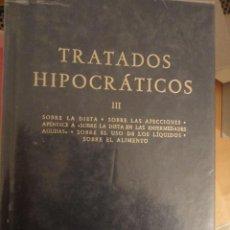 Livros em segunda mão: TRATADOS HIPOCRÁTICOS III. BIBLIOTECA CLÁSICA GREDOS. Nº 91. 1986. 262 PÁG.. Lote 198668983