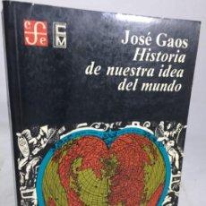 Livros em segunda mão: HISTORIA DE NUESTRA IDEA DEL MUNDO - JOSÉ GAOS - FONDO CULTURA ECONOMICA, MÉXICO 1979. Lote 198690833