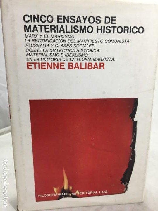 CINCO ENSAYOS DE MATERIALISMO HISTÓRICO, EDITORIAL LAIA 1976 (Libros de Segunda Mano - Pensamiento - Filosofía)