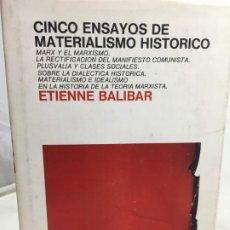 Libros de segunda mano: CINCO ENSAYOS DE MATERIALISMO HISTÓRICO, EDITORIAL LAIA 1976. Lote 200815442